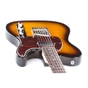 G&L Tribute ASAT Classic Bluesboy Electric Guitar,Brazilian Cherry Fingerboard, Tortoise Pickguard - 3-Tone Sunburst
