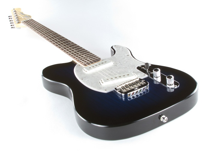pitbull audio g l tribute asat special electric guitar brazilian cherry fingerboard blueburst. Black Bedroom Furniture Sets. Home Design Ideas