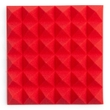 """Gator Frameworks 8 Pack of Red 12x12"""" Acoustic Pyramid Panel"""