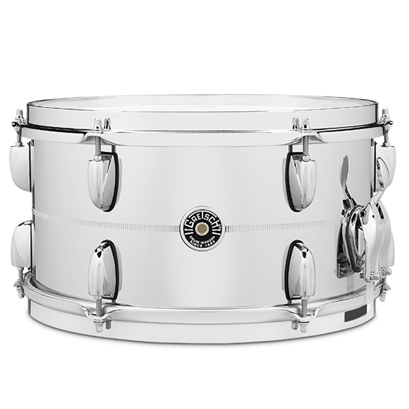 Gretsch Drums GB4163S Brooklyn Chrome Over Steel Snare Drum, 7x13