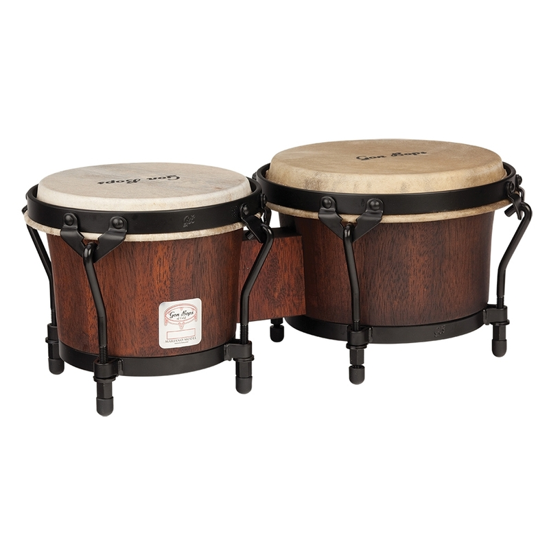 Gon Bops MBBG Mariano Series Bongos, Durian Wood, Natural - 7 / 8.5""