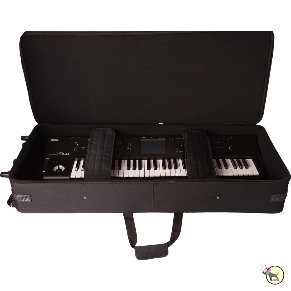 gator gk 88 lightweight 88 key piano keyboard case wheels tow handle skid bars ebay. Black Bedroom Furniture Sets. Home Design Ideas