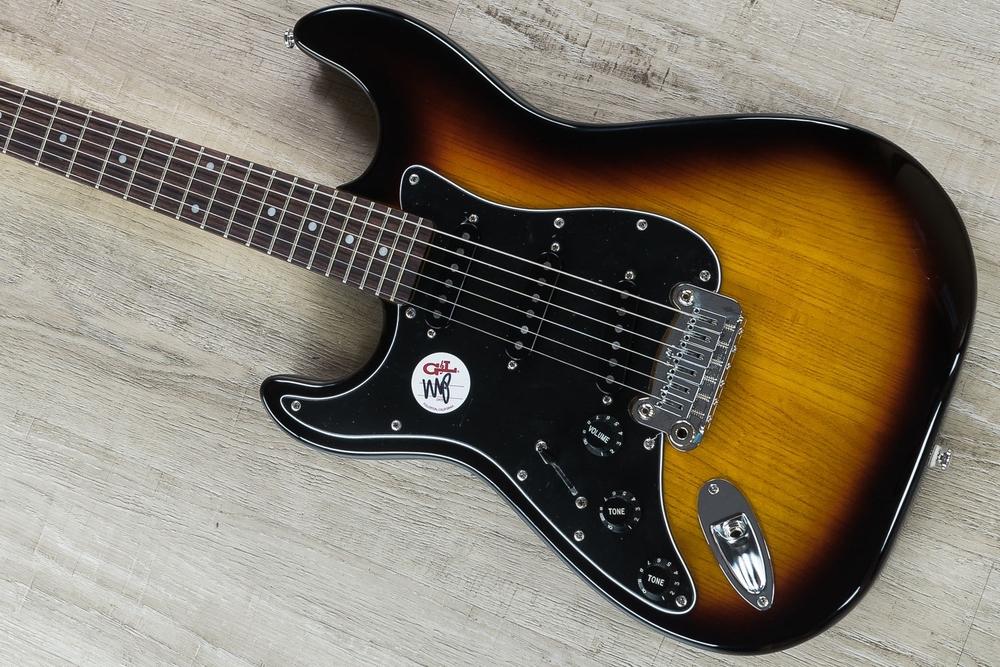 G&L Tribute Legacy 'Lefty' Electric Guitar, Left-Handed, Brazilian Cherry Fingerboard - 3-Tone Sunburst