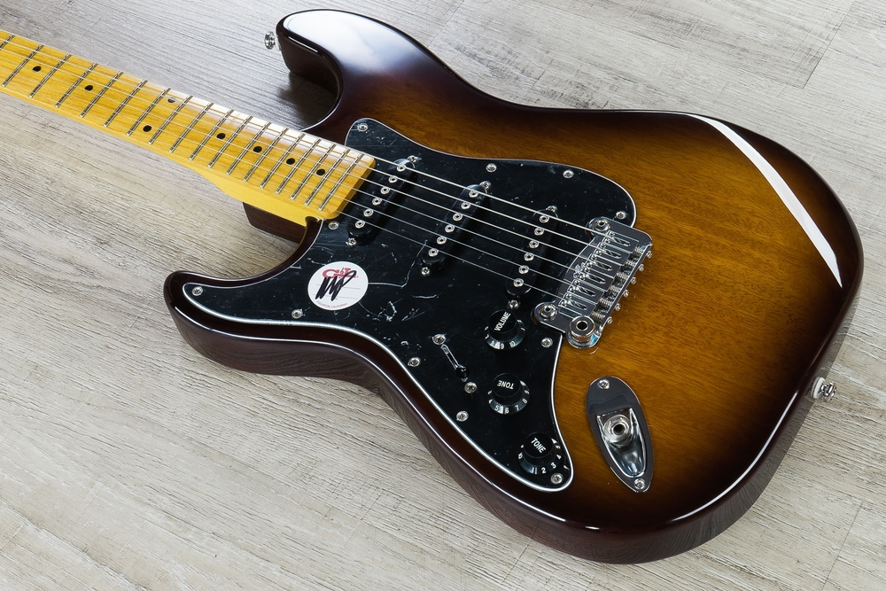 G&L Tribute S-500 'Lefty' Electric Guitar, Left Handed, Maple Fingerboard - Tobacco Sunburst