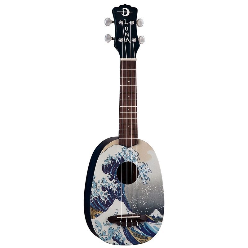 Luna UKE GWS Great Wave Pineapple Soprano Ukulele with Gig Bag