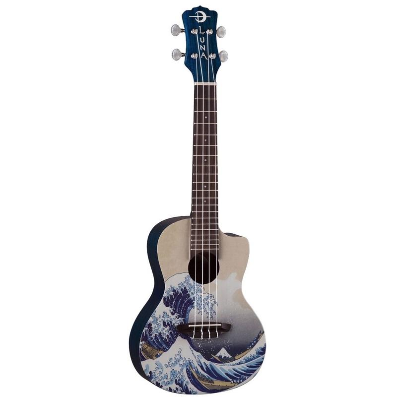 Luna Guitars Great Wave Concert Ukulele with Gig Bag