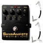 Tech 21 SansAmp GT2 Tube Emulator Guitar Effects Pedal & Fender Patch Cables