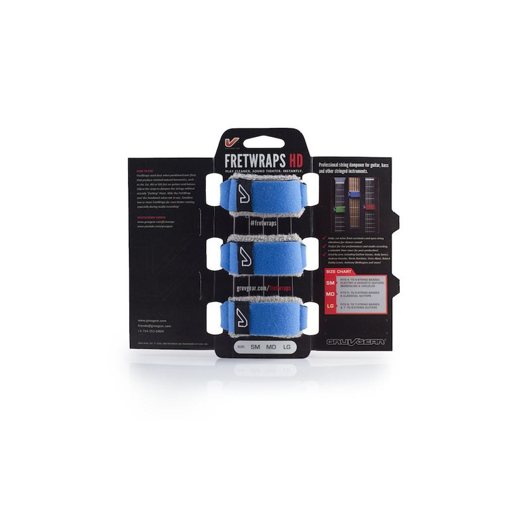 Gruv Gear FretWraps String Muter 1-Pack Blue, Large