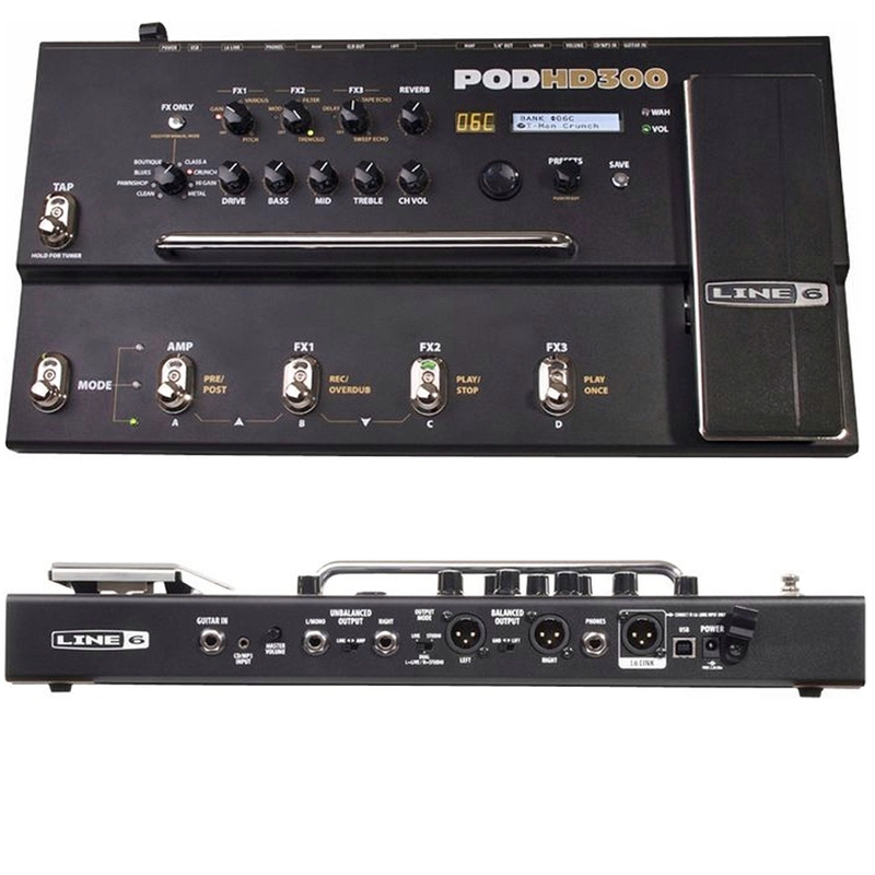 Line 6 POD HD300 HD 300 Guitar Multi Effects Processor Pedal