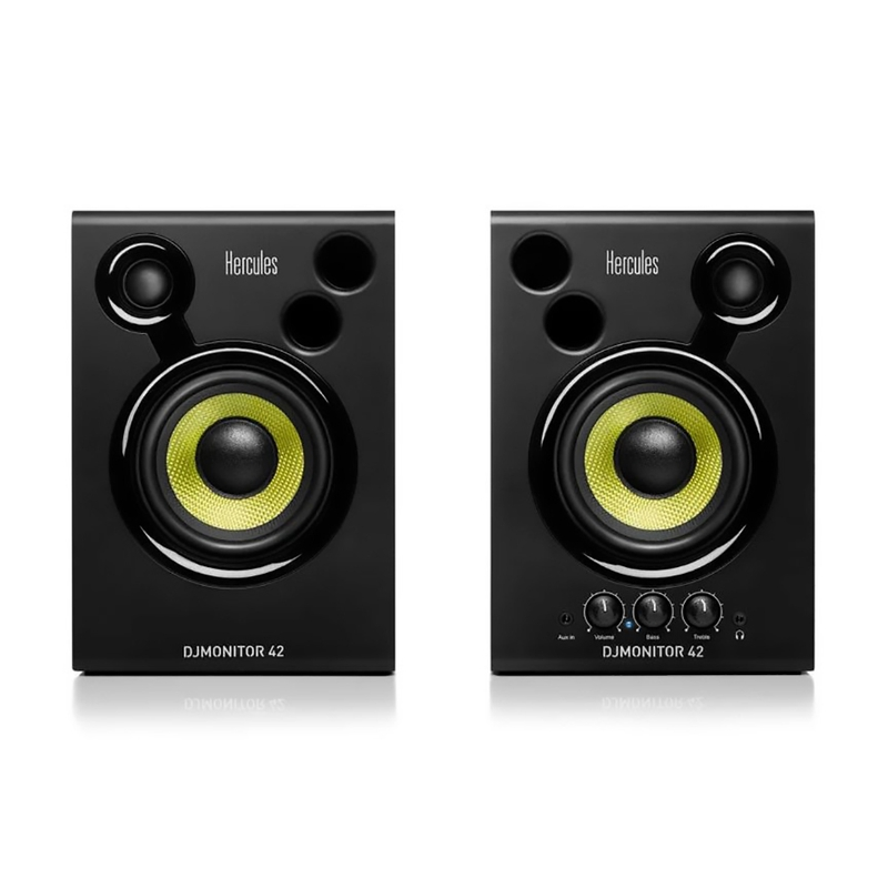 "Hercules DJMonitor 42 4"" Active Powered Multimedia Speakers (Pair)"