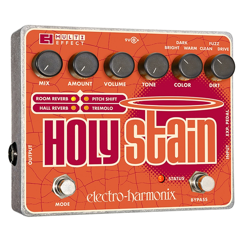 Electro-Harmonix Holy Stain Distortion/Reverb/Pitch/Tremolo Multi-Effect Pedal