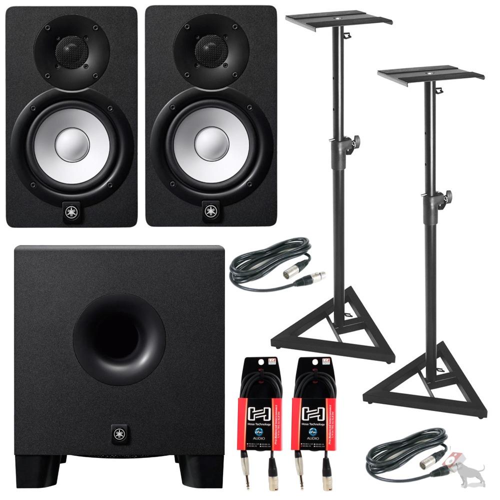 yamaha hs7 powered studio speaker monitor pair w hs8s. Black Bedroom Furniture Sets. Home Design Ideas