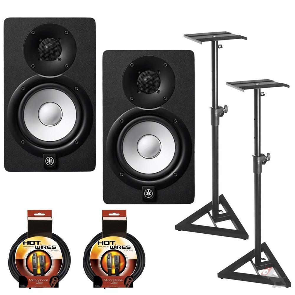 yamaha hs7 powered studio speaker monitor pair w stands. Black Bedroom Furniture Sets. Home Design Ideas