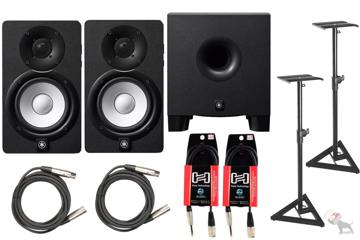 Yamaha hs8 powered studio speaker monitor pair hs8s for Yamaha hs8 sub