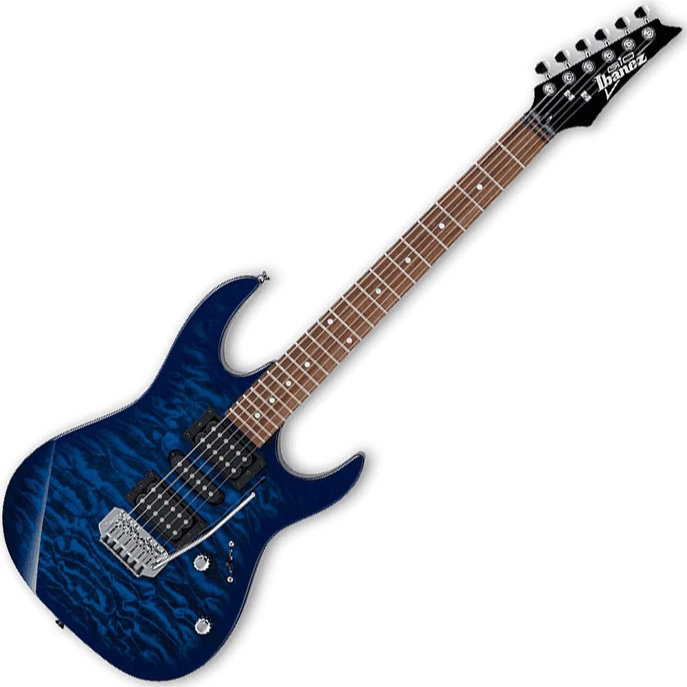 ibanez grx70qa tbb gio series electric guitar hsh tremolo trans blue burst ebay. Black Bedroom Furniture Sets. Home Design Ideas