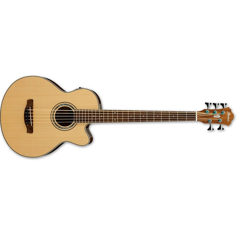 Ibanez AEB105E NT 5-String Acoustic-Electric Bass - Natural High Gloss