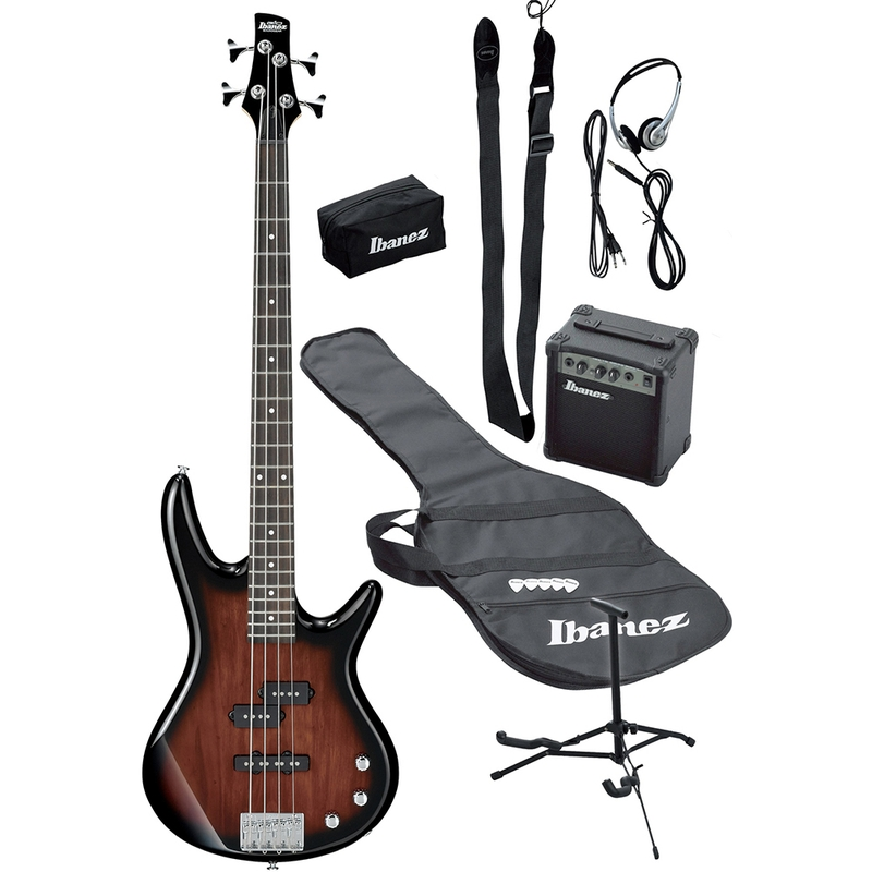Ibanez IJXB150B Jumpstart Bass Package (includes Amp, Tuner, Gig Bag, Cable, Stand, & More)