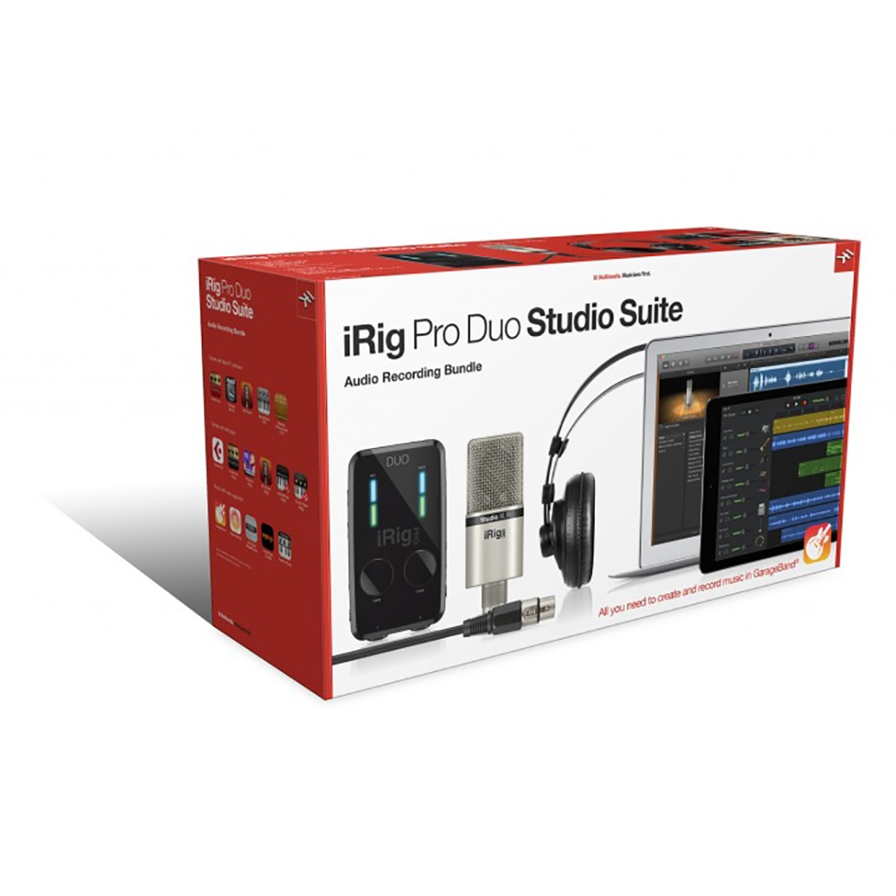 Ik Multimedia Irig Pro: IK Multimedia IRig Pro Duo Studio Suite Interface W/ Mic