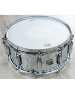 "Gretsch USA GB4164HB Brooklyn Hammered Chrome Over Brass Snare Drum (6.5"" x 14"")"