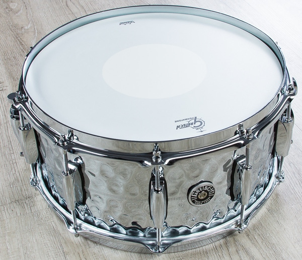 Gretsch GB4164HB Brooklyn Hammered Chrome Over Brass Snare Drum (6.5