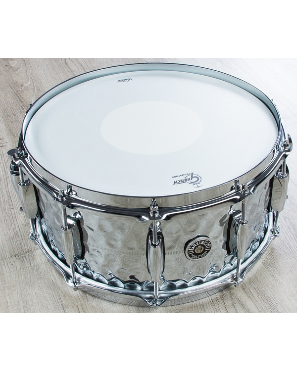 Gretsch USA GB4164HB Brooklyn Hammered Chrome Over Brass Snare Drum (6.5