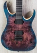 Mayones Duvell Elite 6 - 6-String Electric Guitar, Ebony Fingerboard, Hard Case - Trans Purple / Blue Burst Satin