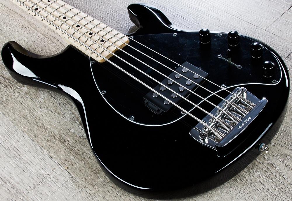 pitbull audio ernie ball music man stingray 5 string electric bass black finish with case. Black Bedroom Furniture Sets. Home Design Ideas