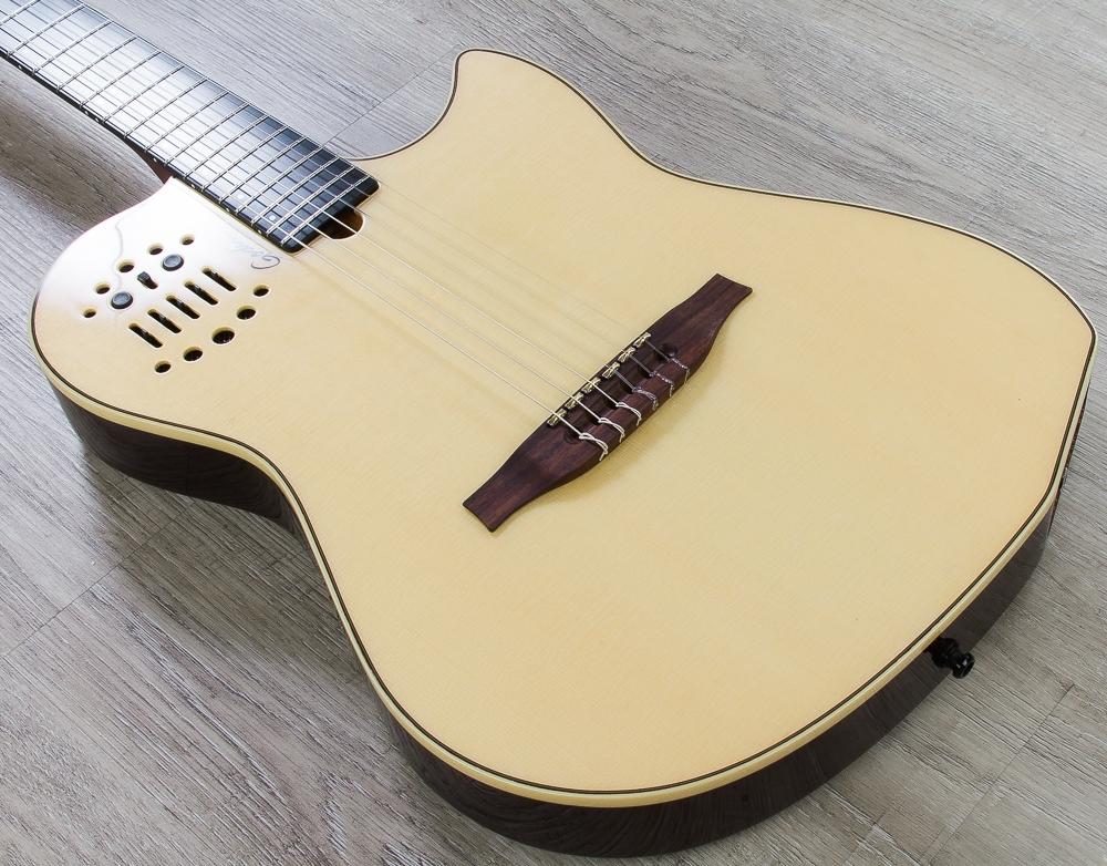 Godin MultiAc SA Series Nylon String Acoustic-Electric Guitar with Bag - Natural HG (B-STOCK)
