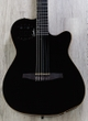 Godin 032181 ACS SLIM Nylon Synth Access, 2-Voice, Narrow Neck Acoustic-Electric Guitar with Bag - Black Pearl HG