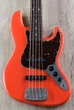 G&L USA JB-5 5-String Electric Bass, Rosewood Fingerboard, Hard Case - Fullerton Red