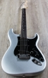 G&L USA Legacy Electric Guitar, Rosewood Fingerboard, Hard Case - Silver Metallic Frost