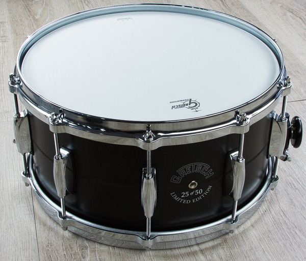 Gretsch G4170D Limited Edition Black Aluminum Snare Drum with Dial Throw-off (7