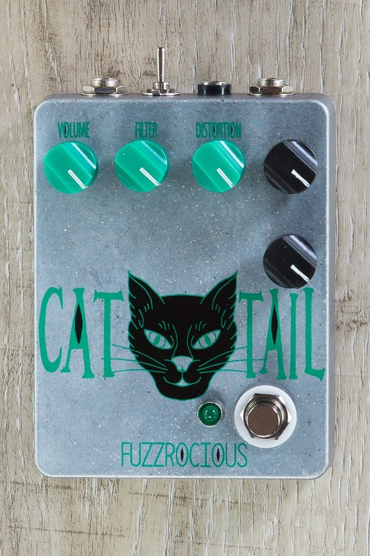 Fuzzrocious Pedals Cat Tail Low/High Gain Distortion/Overdrive Guitar Effects Pedal - Sparkle