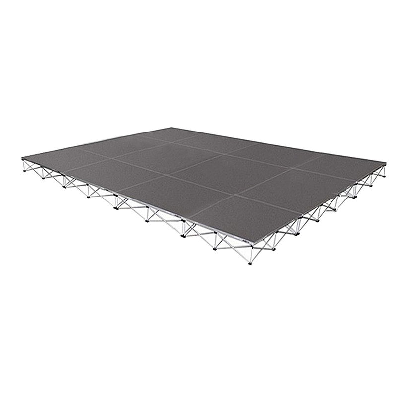 Intellistage ISTAGE121616T Stage Package, 16ft x 12ft, 16'' High, Tuff Coat Deck