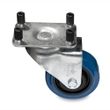 Intellistage ISMDRUM3613 6 Ft X 6 Ft Mobile Drum Risers on Casters, Carpeted