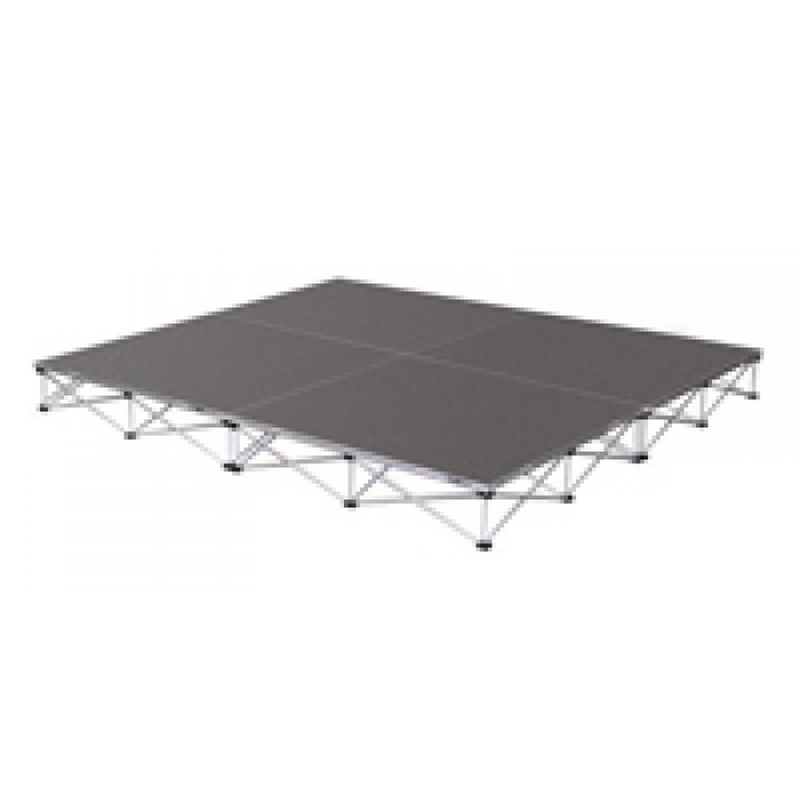 """INTELLISTAGE ISDRUM368 36 SQ FT 8"""" High Drum Riser Platform with Collapsible Risers (6 FT x 6 FT x 8"""")"""