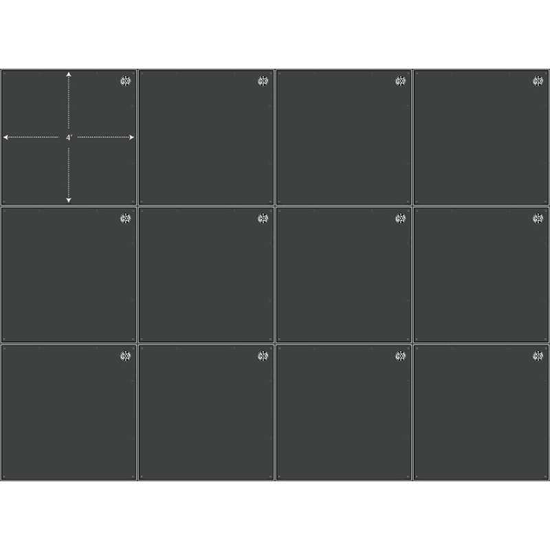 INTELLISTAGE 192 SQUARE FOOT CARPETED STAGE SYSTEM PACKAGE - 12 FEET X 16 FEET, 8 INCHES HIGH. ISTAGE12168