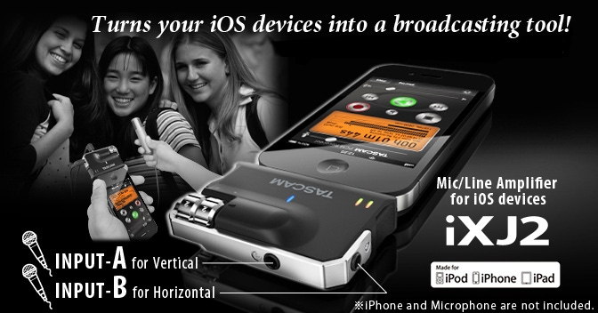 Tascam iXJ2 MIc & Line Level Digital Recording Interface for i Phone & I pad