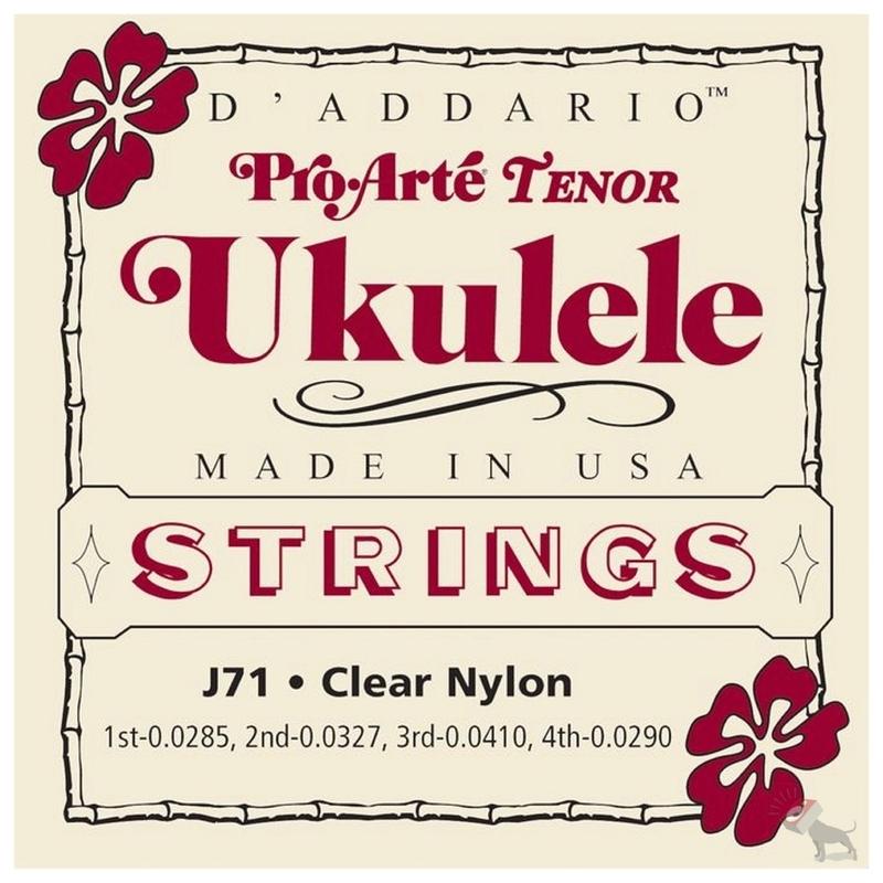 D'Addario J71 Pro-Arte Tenor Clear Nylon Ukulele Strings