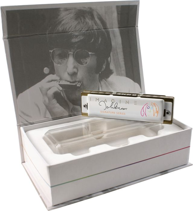 Hohner John Lennon Signature Series Harmonica, Key C, Collectible Box 592JLS