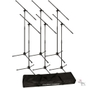 Ultimate Support JS-MCFB6PK 6-Pack Tripod Mic Stand Bundle with Fixed Boom & Tote Bag
