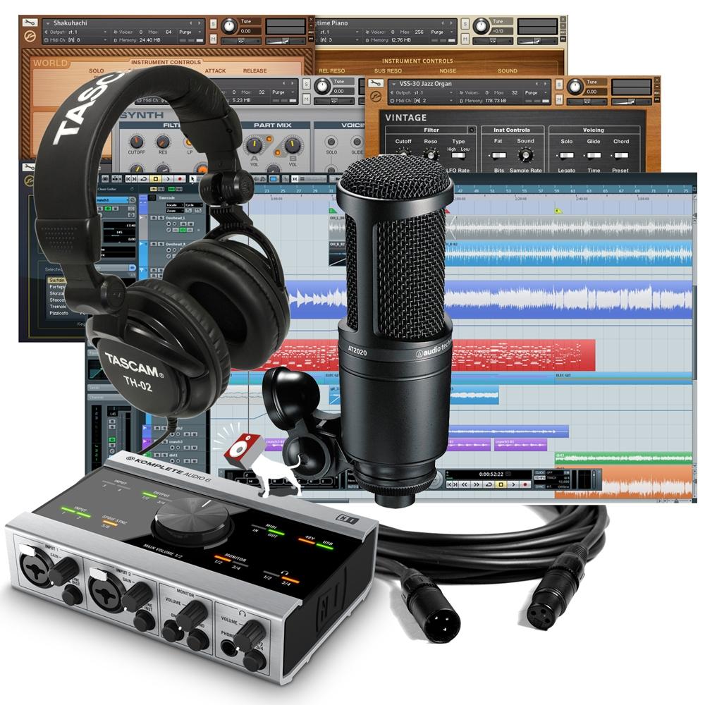 native instruments komplete audio 6 cubase at 2020 microphone recoding bundle ebay. Black Bedroom Furniture Sets. Home Design Ideas