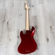 Lakland Skyline Series 44-60 Custom Bass, Rosewood Fretboard, Candy Apple Red