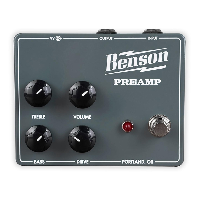 Benson Amps Preamp Pedal Chimera Preamp Guitar Effects Pedal