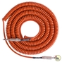 Lava LCSCLO Super Coil Straight-to-Same Guitar Bass Instrument Cable, 35 ft (Orange)