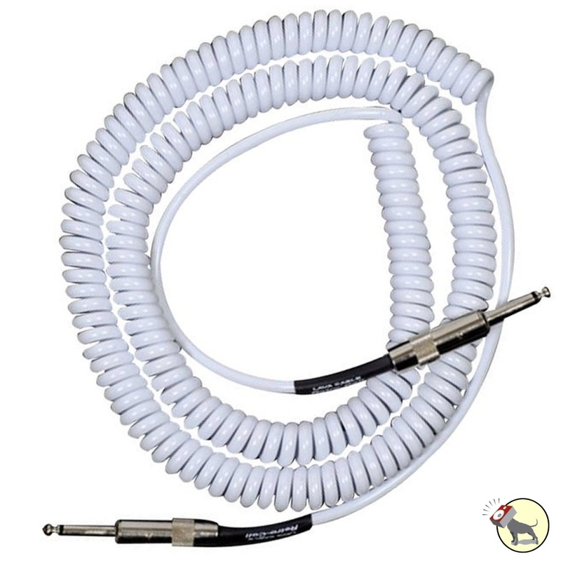 Lava LCSCLW Super Coil Straight-to-Same Guitar Bass Instrument Cable, 35 ft (White)