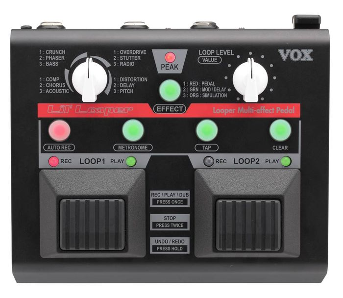 Vox Lil' Looper Guitar Multi-Effects Pedal Loop Quantize Batteries Included
