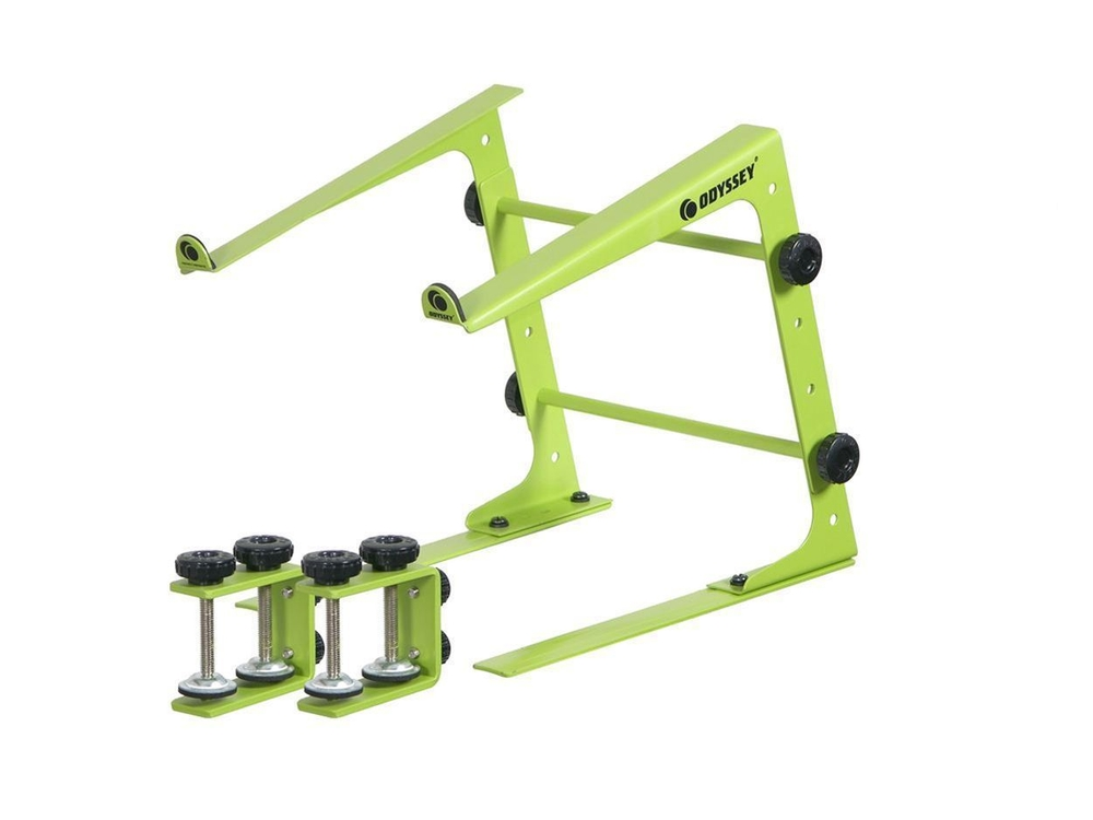 Odyssey LSTAND DJ Laptop Stand with Clamps - Lime