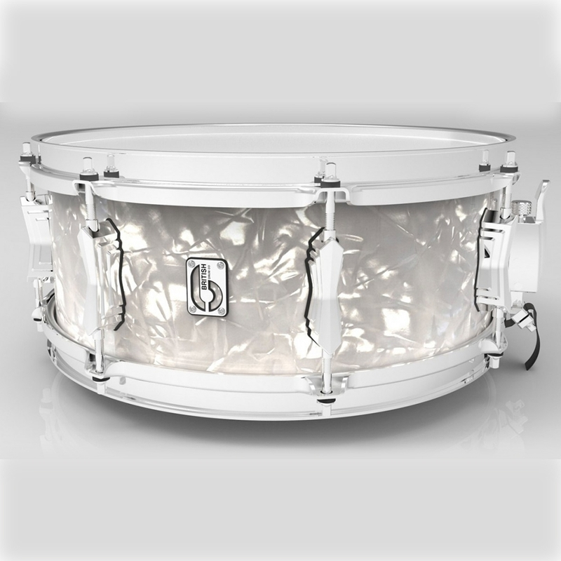 "British Drum Company 14 X 6.5"" Lounge Series Snare - Windemere Pearl"