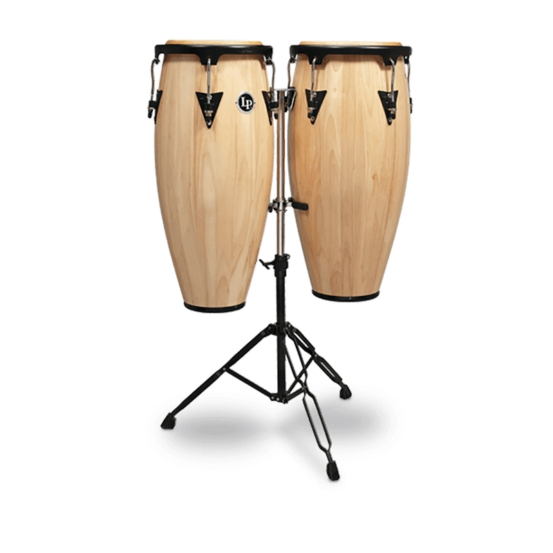"LP Latin Percussion LPA646-AW Aspire Series Wood Quinto/Conga Set with Stand, 10/11"" - Natural"